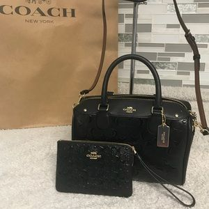 Coach mini bennett and small wristlet